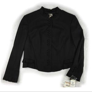NWT Anne Klein Black Cropped Jacket